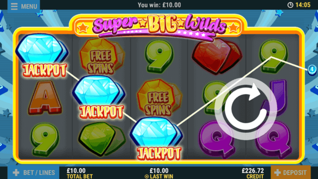Super Big Wilds online slots by Pocketwin mobile casino