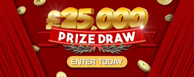 Win Big with PocketWin's HUGE £25,000 Prize Draw!*